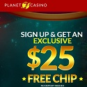 Planet 7 Casino - 50 no deposit bonus